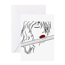 Flute - White Greeting Card
