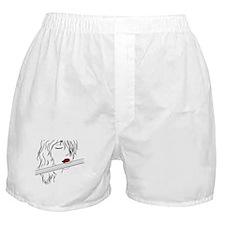 Flute - White Boxer Shorts