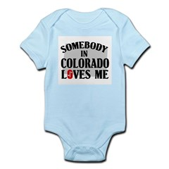 Somebody In Colorado Infant Creeper
