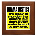 Obama Justice Framed Tile