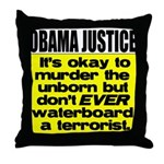 Obama Justice Throw Pillow