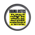 Obama Justice Wall Clock