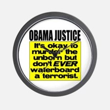 Obama Justice Wall Clock
