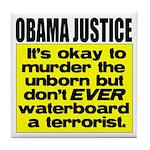 Obama Justice Tile Coaster