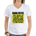 Obama Justice Women's V-Neck T-Shirt