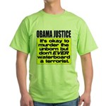 Obama Justice Green T-Shirt