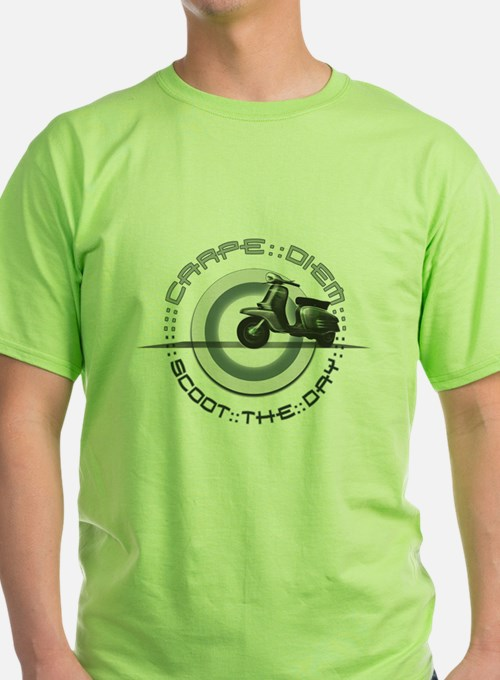 'Scoot the Day' Green Tee