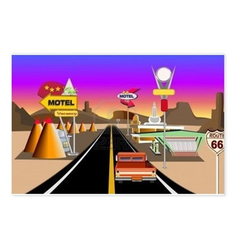 HIstoric Route 66 Postcards (Package of 8)