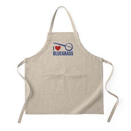 I Love Bluegrass BBQ Apron