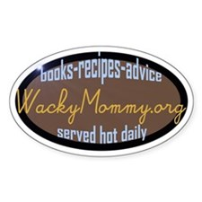 WackyMommy.org Oval Decal