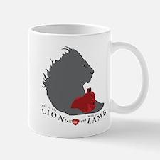 Twilight LION LAMB on White Mug