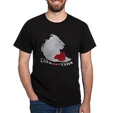 TWilight LION LAMB on Black T-Shirt