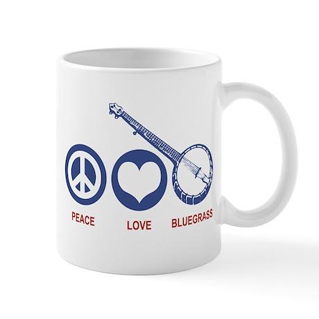 Peace Love Bluegrass Mug