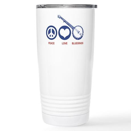 Peace Love Bluegrass Stainless Steel Travel Mug