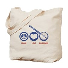 Peace Love Bluegrass Tote Bag