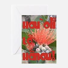 Native Lehua Birthday Greeting Card