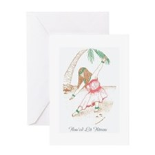 Hawaiian Hula Girl Birthday Card