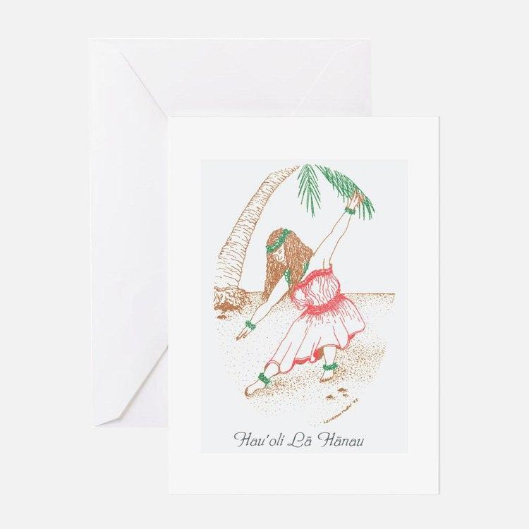 Hawaiian Hula Girl Birthday Card