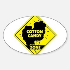 Cotton Candy Zone Oval Decal