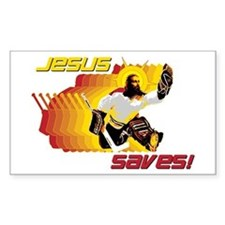 Jesus Saves Rectangle Decal