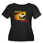 Jesus Saves Women's Plus Size Scoop Neck Dark T-Sh