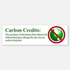 Carbon Credits Definition - Bumper Bumper Sticker