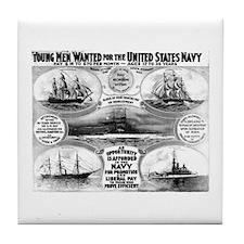 1908 Navy Recruiting Tile Coaster