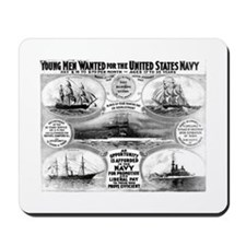 1908 Navy Recruiting Mousepad
