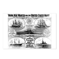 1908 Navy Recruiting Postcards (Package of 8)