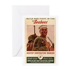 Fighting Seabees Greeting Card