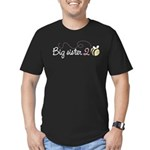 Big Sister to Bee Men's Fitted T-Shirt (dark)