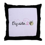 Big Sister to Bee Throw Pillow