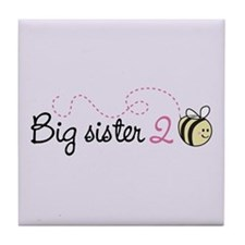 Big Sister to Bee Tile Coaster