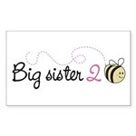 Big Sister to Bee Rectangle Sticker 50 pk)