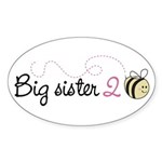 Big Sister to Bee Oval Sticker (50 pk)