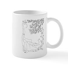 Lazy Dragon with Bird Mug