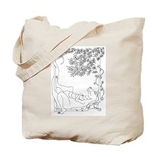 Lazy Dragon with Bird Tote Bag