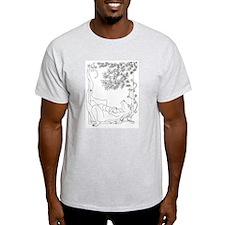 Lazy Dragon with Bird T-Shirt