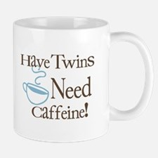 Have Twins Need Caffeine (Blue) - Coffee Mug