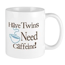 Have Twins Need Caffeine (Blue) - Coffee Mug