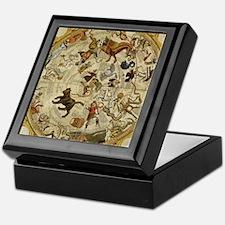 Vintage Celestial Map Keepsake Box