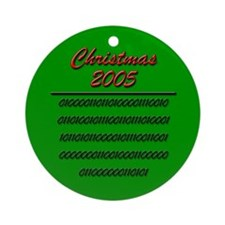 Christmas '05 in Binary Ornament (Round)
