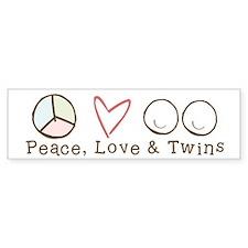 Peace Love & Twins - Bumper Bumper Sticker