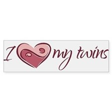 I (heart) My Twins - Bumper Bumper Sticker