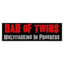 Dad of Twins - Bumper Car Sticker