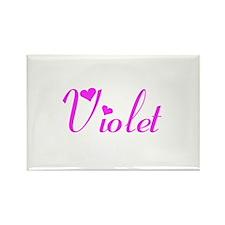 Violet Rectangle Magnet