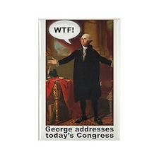 George Washington WTF! Rectangle Magnet (100 pack)