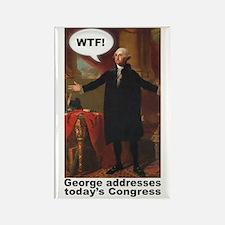 George Washington WTF! Rectangle Magnet