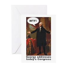 George Washington WTF! Greeting Card