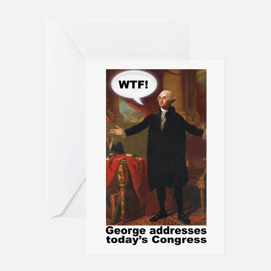 George Washington WTF! Greeting Card